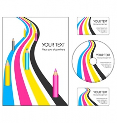 corporate design layout vector image vector image