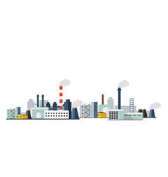 factory landscape flat vector image