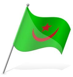 flag of Mauritania vector image