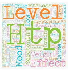 Improve Your Mood with HTP Supplements text vector image vector image