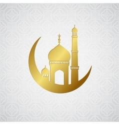 Ramadan greetings card background vector image