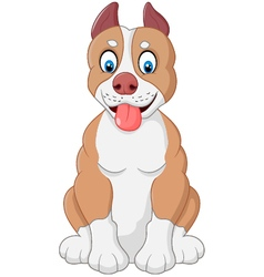Cartoon adorable dog vector image vector image