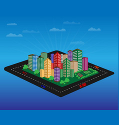 city with high-rise buildings vector image vector image