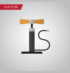 isolated pumping air flat icon wheel pump vector image
