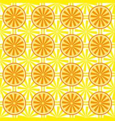 lemon orange fruit pattern yellow vector image