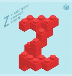 plastic blocs letter z vector image vector image