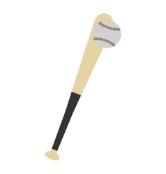baseball bat ball play icon graphic vector image