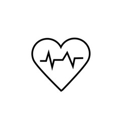 cardiogram icon vector image vector image