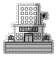 figure police station icon image vector image vector image