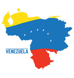 flag and map of venezuela vector image