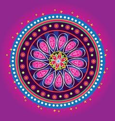 Flower pattern mandala vector image vector image