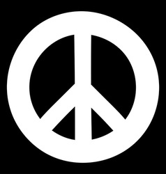 Peace sign Anti-war symbol on black background vector image