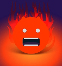 Abstract angry face vector