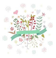abstract floral spring bouquet on white vector image