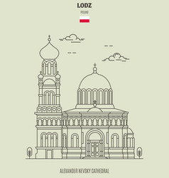 alexander nevsky cathedral in lodz vector image