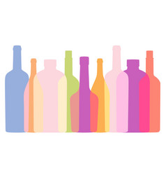 background with outlines contours bottles vector image