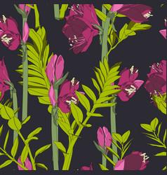 beautiful blooming seamless pattern vector image