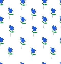 Blue flowers seamless vector