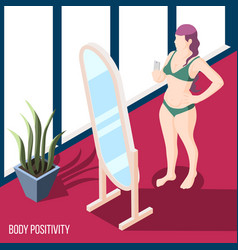body positivity movement background vector image