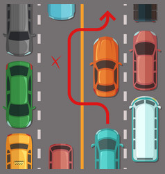 breaking overtaking road rule vector image