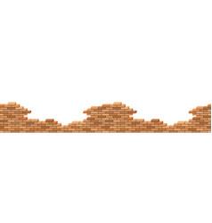 brick wall broken 3d isometric view seamless vector image