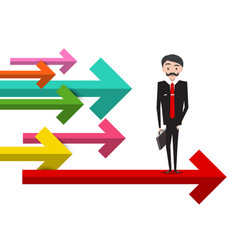 Business concept with businessman and colorful vector