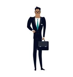 Businessman in Flat Design vector image
