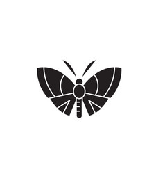 butterfly black concept icon butterfly vector image