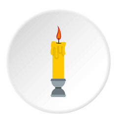 Candle icon circle vector