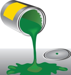 Cans of green paint vector image