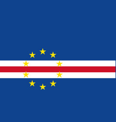 cape verde flag icon in flat style national sign vector image
