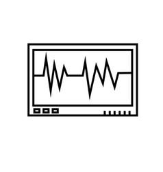 cardiogram monitor icon vector image