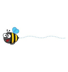 Cartoon Bee Buzzing vector image