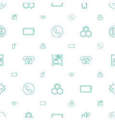 cell icons pattern seamless white background vector image
