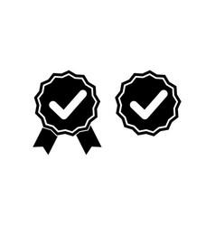 check marks or top service guarantee warranty vector image