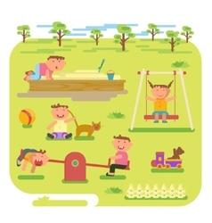 children play outdoors vector image