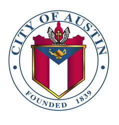 City of austin seal vector