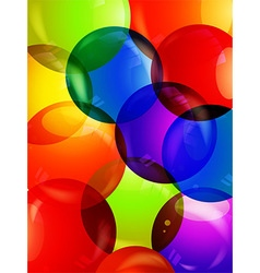 Colourful bubble close up background vector image
