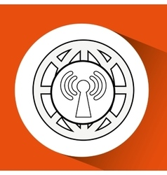 Connection concetp globe symbol wifi vector