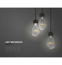 Creative design of nature lamps vector image
