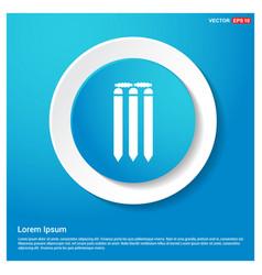 Cricket bails icon vector