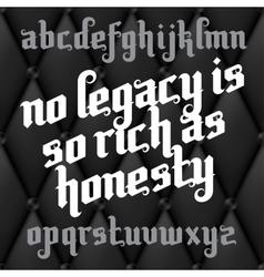 Custom Gothic Font vector