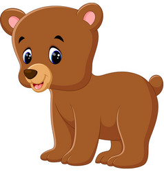 cute bear walking vector image