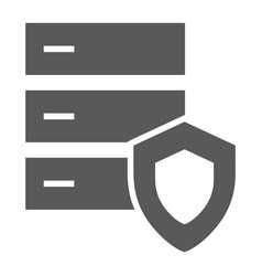 database protection glyph icon server security vector image