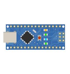 Diy electronic mini board with a micro-controller vector