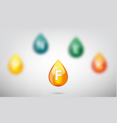 drop of vitamins vector image