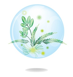 Eco Green Friendly Environmental Button vector