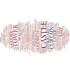 Goodrich castle text background word cloud concept vector