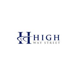H high way street logo design vector