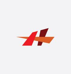 h logo element letter icon symbol vector image
